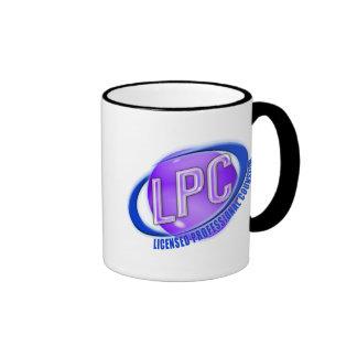 LPC SWOOSH LOGO LICENSED PROFESSIONAL COUNSELOR RINGER MUG
