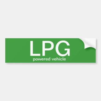 LPG powered vehicle - bumper sticker