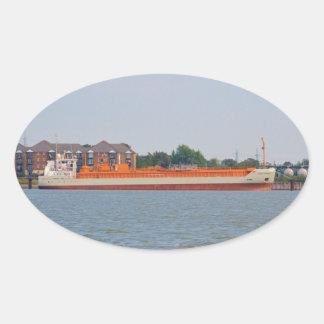 LPG Tanker Yara Embla Oval Sticker