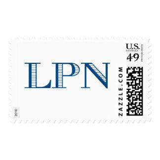 LPN azul Sellos Postales