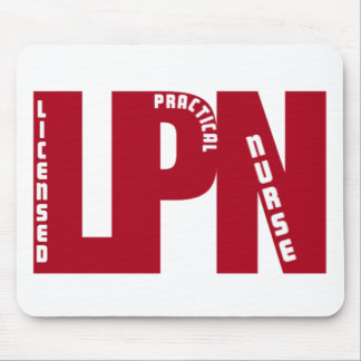 LPN Big RED LICENSED PRACTICAL NURSE Mouse Pad