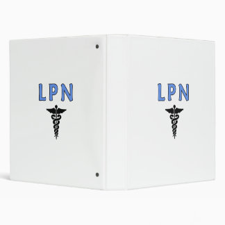 LPN Caduceus 3 Ring Binder