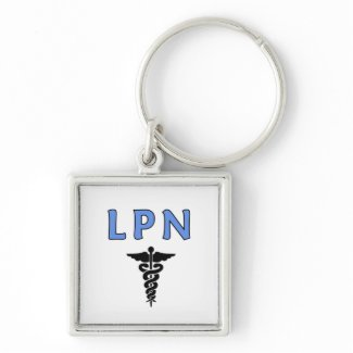 LPN Caduceus keychain