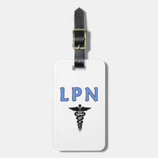 LPN Caduceus Medical Symbol Bag Tag