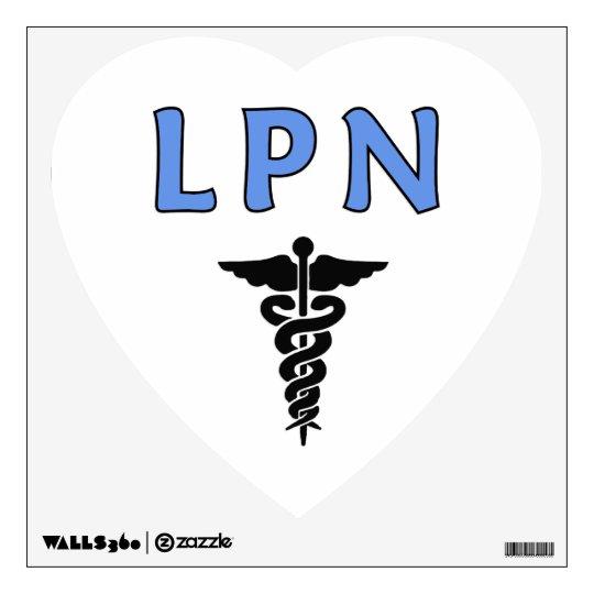 LPN Caduceus Medical Symbol Wall Decal