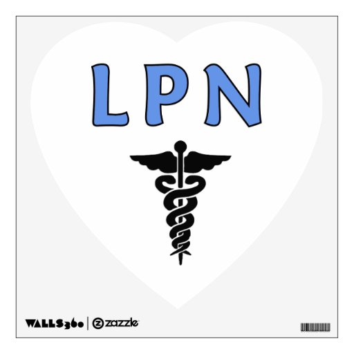 LPN Caduceus Medical Symbol Wall Stickers Zazzle