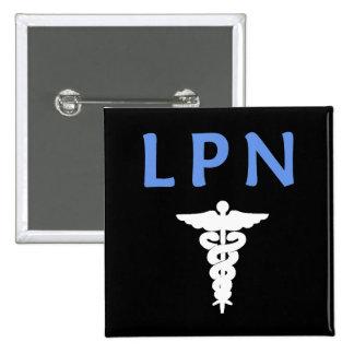 LPN Caduceus Pinback Button