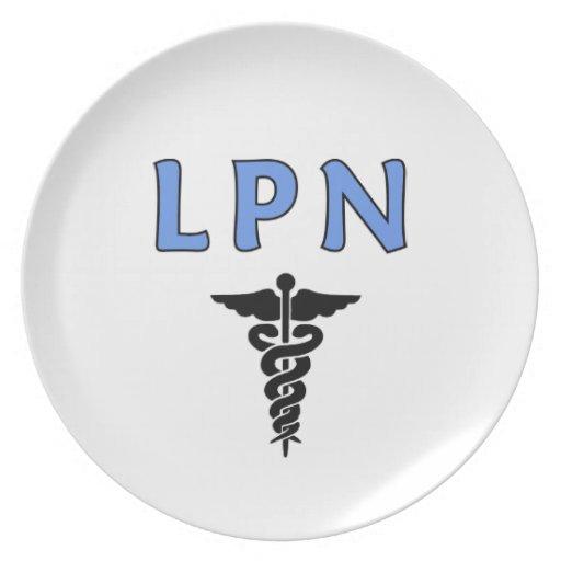 LPN Caduceus Dinner Plate