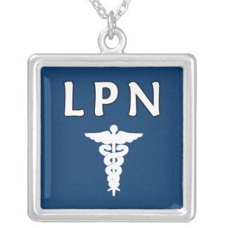 LPN Caduceus Square Pendant Necklace