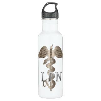 LPN Caduceus Stainless Steel Water Bottle
