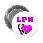 LPN Care 2 Inch Round Button