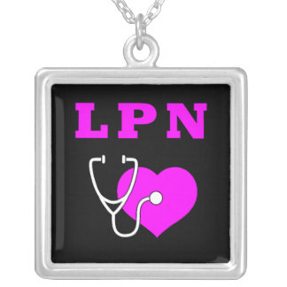 LPN Care Silver Plated Necklace
