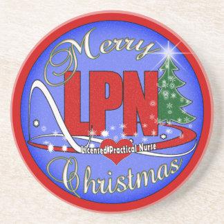 LPN CHRISTMAS COASTERS LICENSED PRACTICAL NURSE