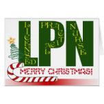 LPN CHRISTMAS LICENSED PRACTICAL NURSE GREETING CARD