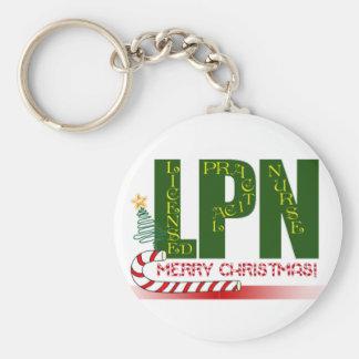 LPN CHRISTMAS LICENSED PRACTICAL NURSE KEYCHAIN