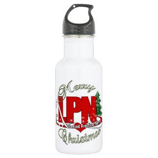LPN CHRISTMAS Licensed Practical Nurse Water Bottle