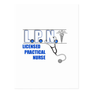 LPN con Stethescope autorizó a la enfermera Tarjeta Postal