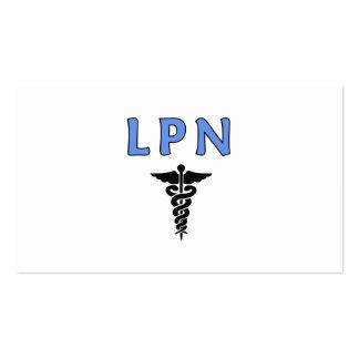 LPN cuida símbolo Plantilla De Tarjeta De Negocio