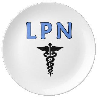 LPN cuida símbolo Plato De Cerámica
