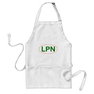 LPN green orange Adult Apron