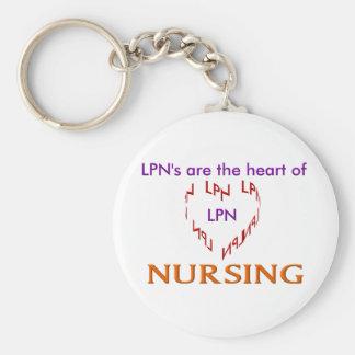LPN Heart Basic Round Button Keychain