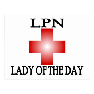 LPN-Lady of The Day Postcards