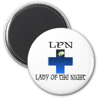 LPN-Lady of The Night 2 Inch Round Magnet
