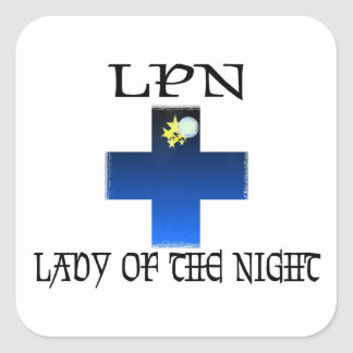 LPN-Lady of The Night Square Sticker