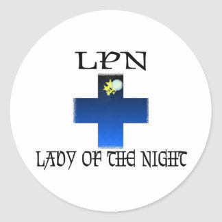 LPN-Lady of The Night Classic Round Sticker