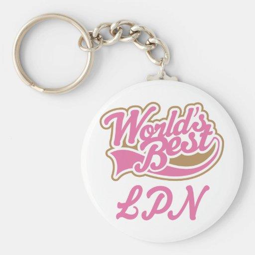 LPN Licensed Practical Nurse Gift Basic Round Button Keychain
