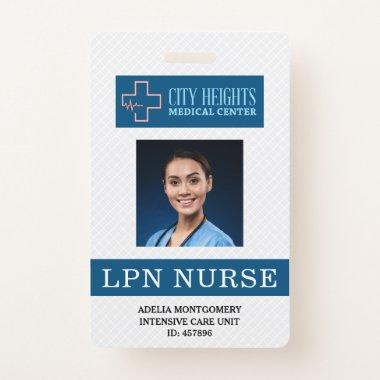 LPN Licensed Practical Nurse Name Photo ID Logo Badge