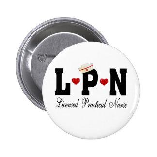 LPN Licensed Practical Nurse Pinback Button