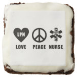 LPN Love Peace Nurses Brownie