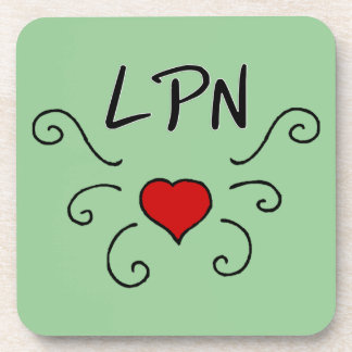 LPN Love Tattoo Beverage Coaster