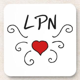 LPN Love Tattoo Coaster