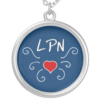 LPN Love Tattoo Silver Plated Necklace