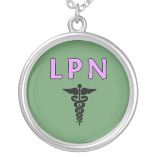 LPN Medical Round Pendant Necklace