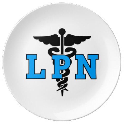 LPN Medical Symbol Porcelain Plate