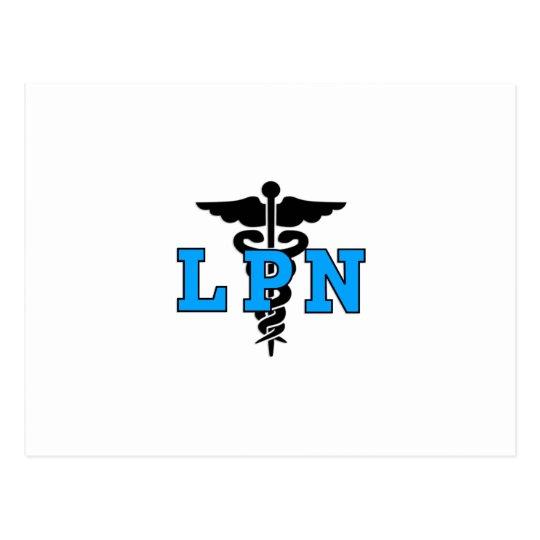 LPN Medical Symbol Postcard
