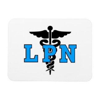 LPN Medical Symbol Rectangle Magnets