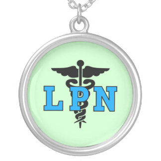 LPN Medical Symbol Silver Plated Necklace
