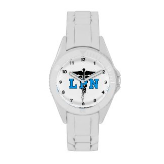 LPN Medical Symbol Watches Additional Colors and Styles Available