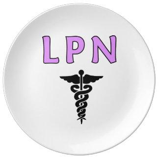 LPN médico Platos De Cerámica