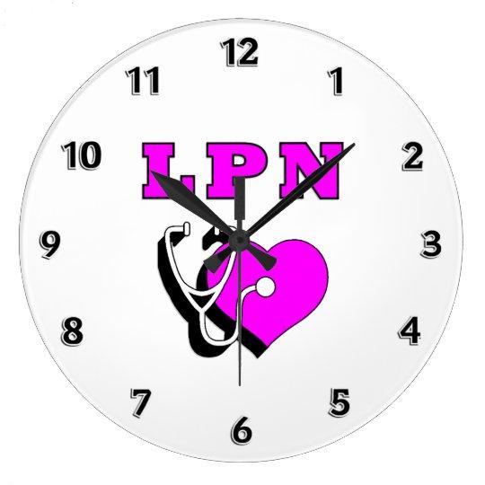 LPN Nurse Care Large Clock