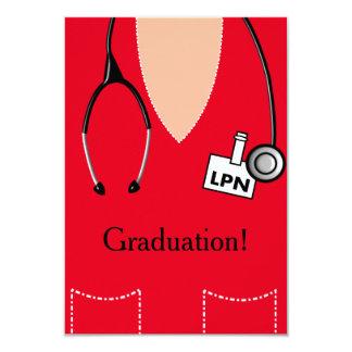 LPN Nurse Graduation Invitation Scrub #29
