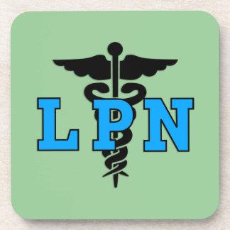 LPN Nurse Medical Symbol Beverage Coaster