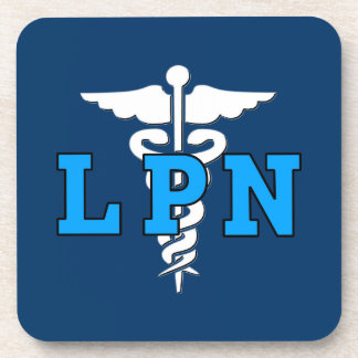 LPN Nurse Medical Symbol Coaster