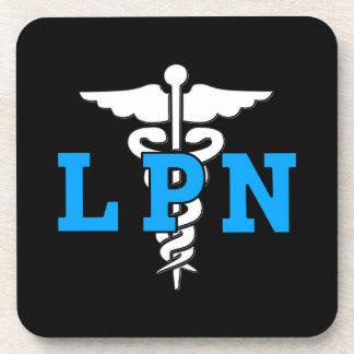 LPN Nurse Medical Symbol Beverage Coasters