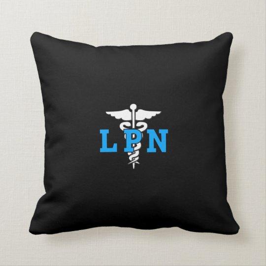 LPN Nurse Medical Symbol Throw Pillow