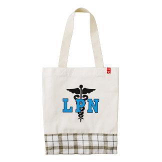 LPN Nurse Medical Symbol Zazzle HEART Tote Bag